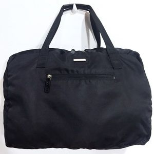 Gucci large black nylon duffle carry on bag